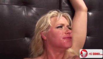 Double penetration with a cute blonde Tasha Reign
